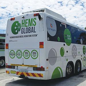 Hydrogen Based Diesel Reduction System on HEMS bus
